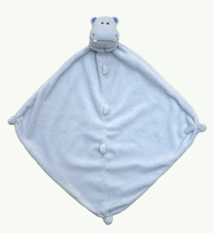 Angel Dear blue hippo lovey