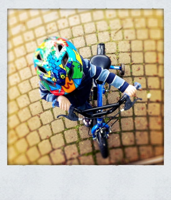 child on bike
