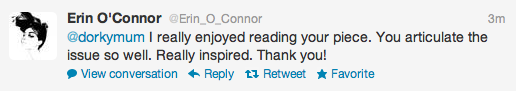 Erin O' Connor Twitter