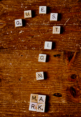 scrabble tiles question mark