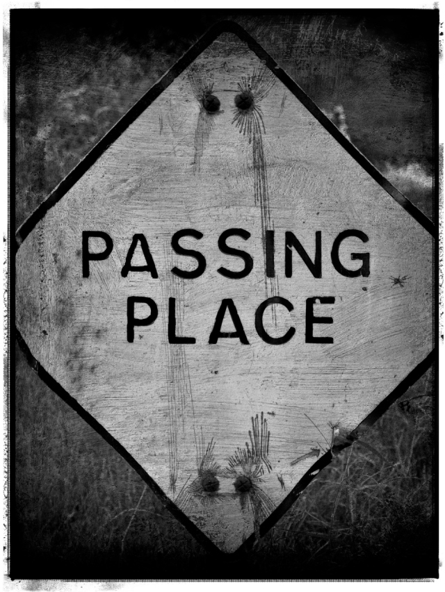 Passing place sign