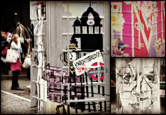 Painted phone boxes Covent Garden London