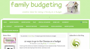 Family Budgeting blog