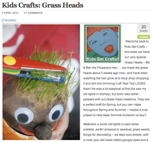 How to make grass heads with kids