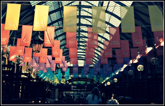 Covent Garden Market Olympic Flags