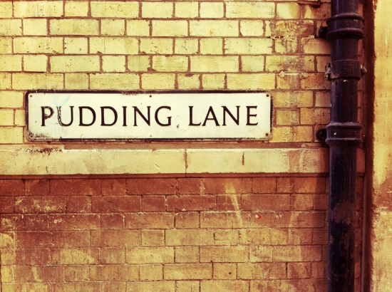 Pudding Lane street sign