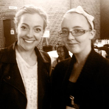 Cherry Healey with a blogger at BritMums Live in 2012