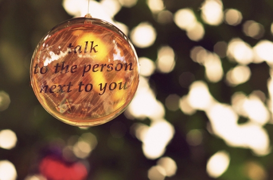 Talk to the person next to you