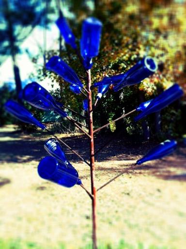 Blue Bottle tree haints