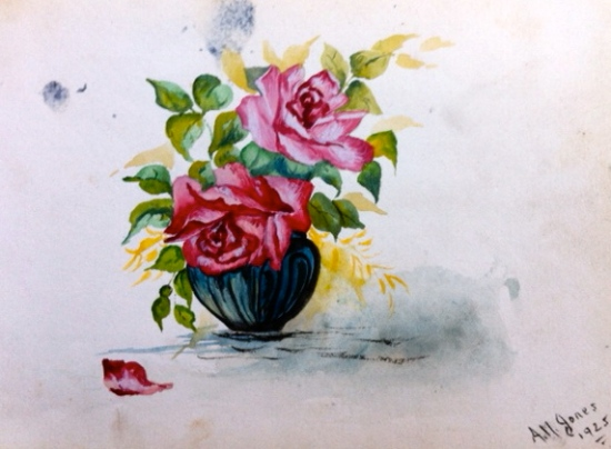 painting of flowers from 1920s
