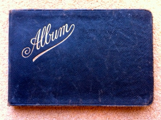 old leather bound album