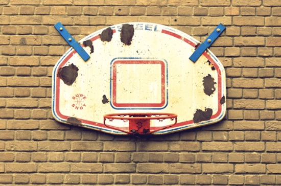 high school basketball court