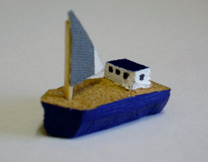 upcycled cork boat