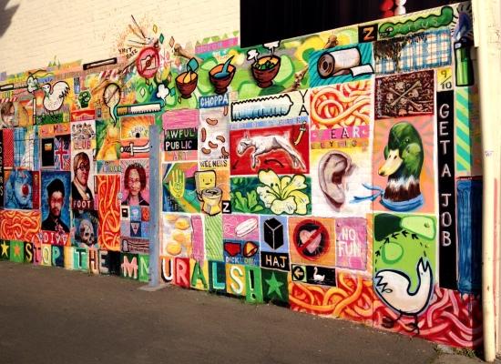 wall mural north hobart