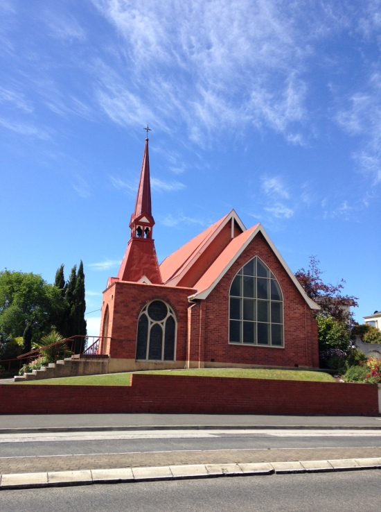 red brick church Sandy Bay Road Hobart