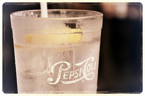 retro Pepsi glass