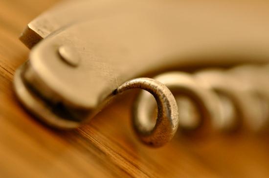 macro photography corkscrew