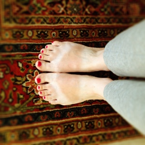 feet with tan lines