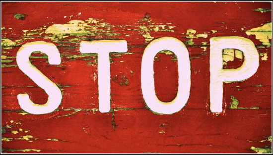 Red road sign STOP