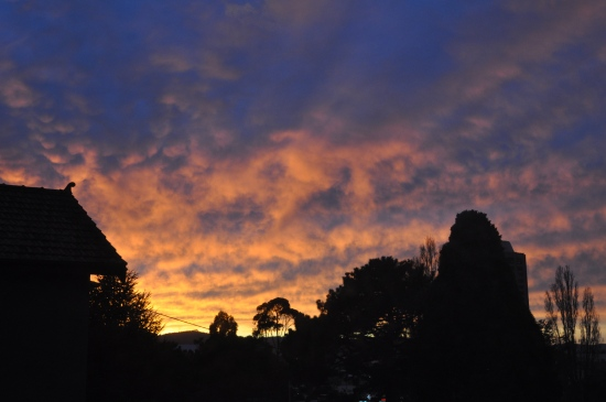 winter sunrise in Hobart Tasmania