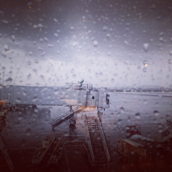 rain at glasgow airport