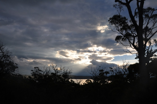 dusk on Bruny Island