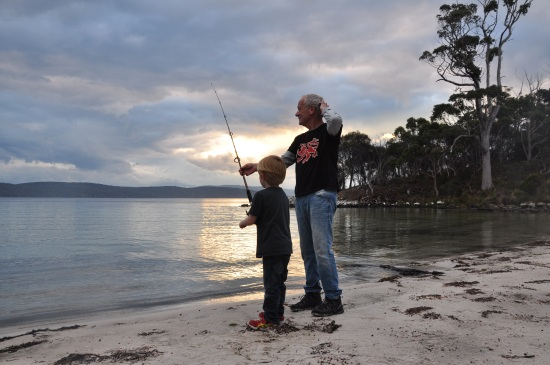 Fishing on Bruny Island