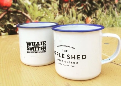 Willie Smith's Apple Shed enamel cups