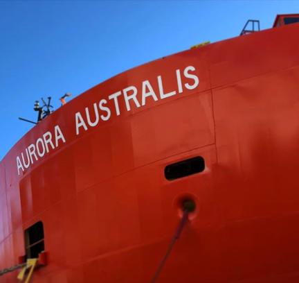 Aurora Australis red icebreaker Hobart Tasmania