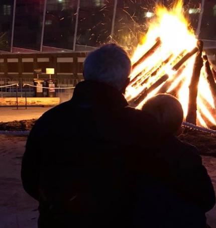 Dark MOFO bonfire Hobart Tasmania