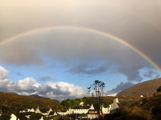 Rainbow over Tarbert, Isle of Harris