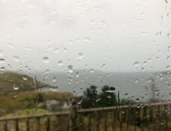 Rainy day in Tarbert, Isle of Harris