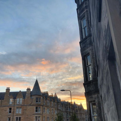 Sunset in Edinburgh Marchmont