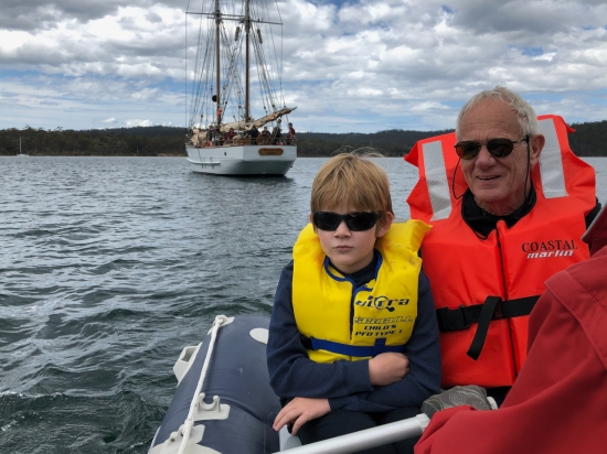 SV Rhona H docked at Quarantine Bay, Bruny Island Tasmania