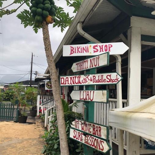 Street sign in Hanalei, Kauai