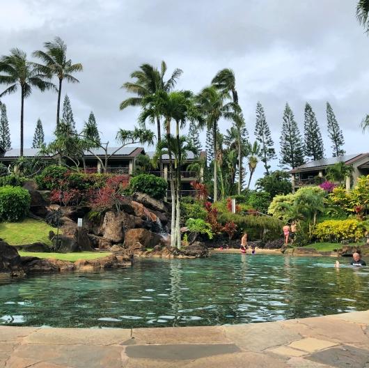 swimming pool at Hanalei bay resort Kauai