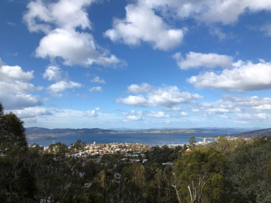 A view of Hobart Tasmania taken from Knocklofty Reserve